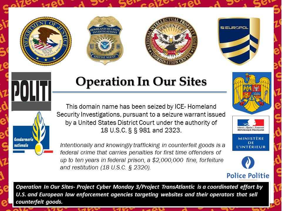 International Cyber Monday Effort Results in Shut Down of Counterfeit DVD Sites, Among Others