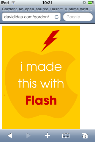Clever JavaScript Flashes the iPhone